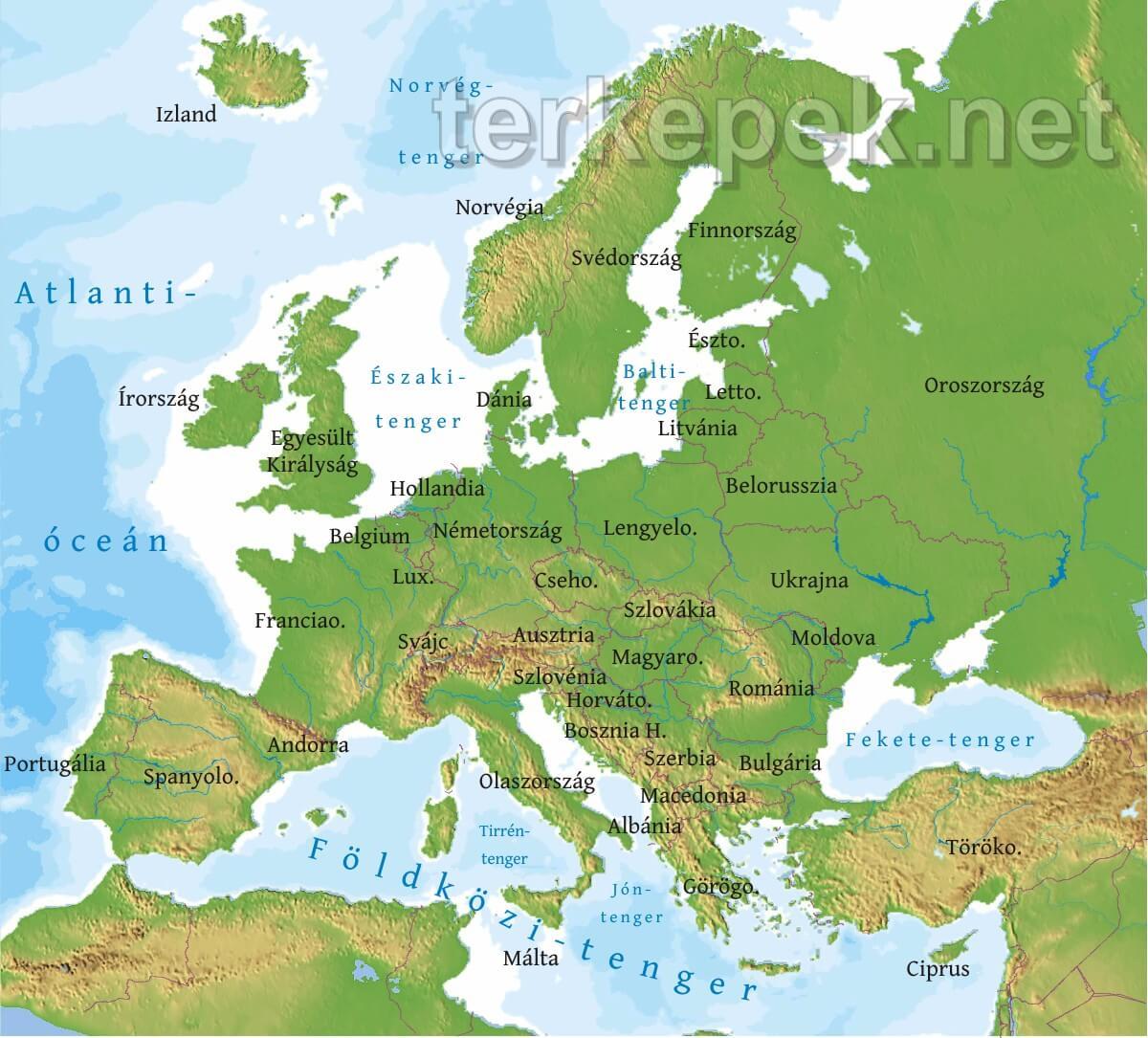 Europa Terkepek